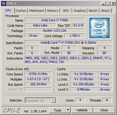 overclocked to 6 73 ghz core i7-7700k processor record in