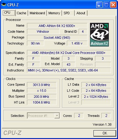 Athlon 64 X2 6000 Review Benchmark And Overclock
