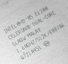 Celeron E1200 overclock