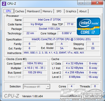 Core i7-3770K stepping E0