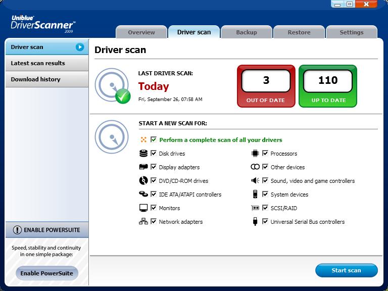 Скачать программу Driver Scanner 2010 + crack бесплатно.