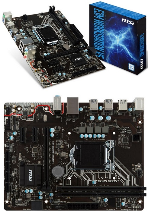 msi e3 krait gaming v5 and e3m workstation v5 based on intel c232