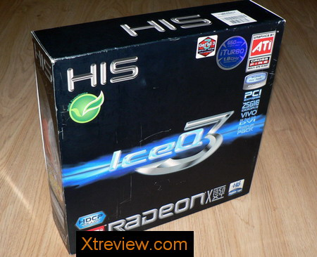 HIS radeon x1950 XT iceQ3 turbo 256Mb box