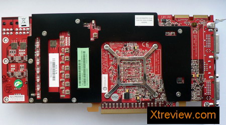 HIS radeon HD 2900 Pro 512 Mb the card back side