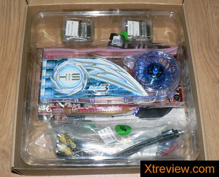 HIS radeon x1950 XT iceQ3 turbo 256Mb inside the box