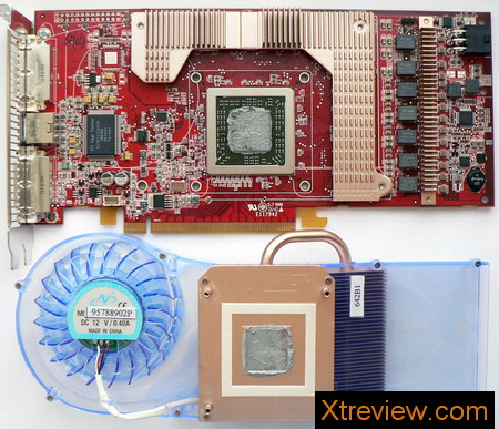 HIS radeon x1950 XT iceQ3 turbo 256Mb : PCB naked view