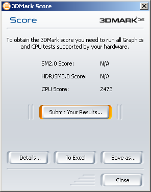 highest score from E6850 : 3d2006