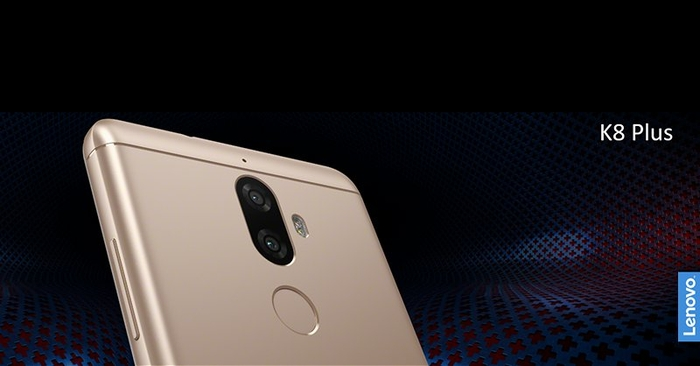 lenovo k8 note with a dual camera and a 4000 mah battery