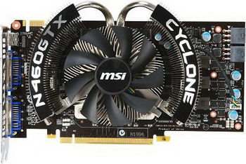 MSI company also presented the new card NVIDIA GeForce GTX 460 SE with ...