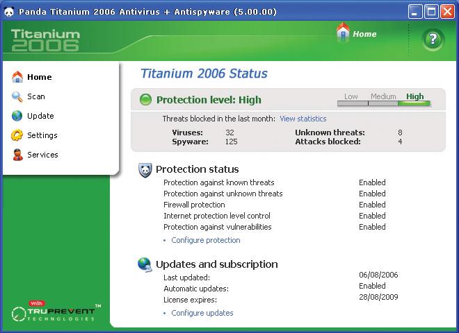 Panda Titanium Antivirus Plus Antispyware 2006. Благодаря ежедневной.