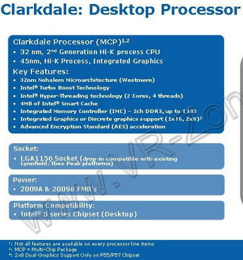 Intel clarkdale processor