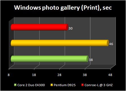 Celeron 440 conroe-L @ 3ghz : windows photo gallery