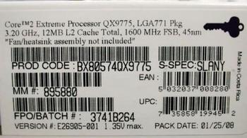 core 2 Extreme QX9775 box code