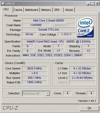 Core 2 Quad Q9550 Overclocking