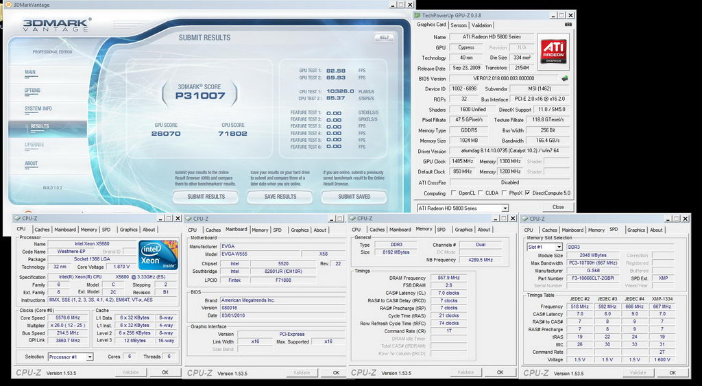 two processors xeon x5680 and four video card hd 5870