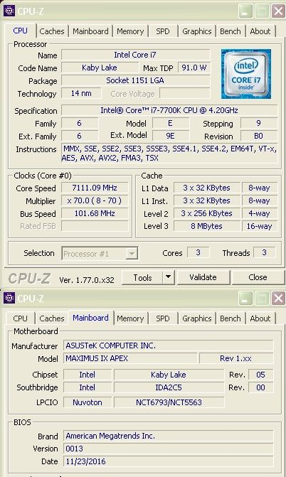 amd ryzen with four cores need some patience, core i7-7700k