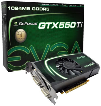 EVGA GeForce GTX 550 Ti FPB and GeForce GTX 550 Ti superclocked