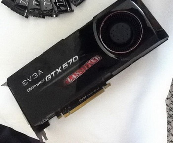 EVGA GTX 570 HD classified is equipped with two video outputs DVI ...