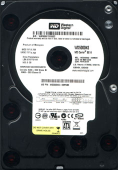 westerb digital 750 gig hdd