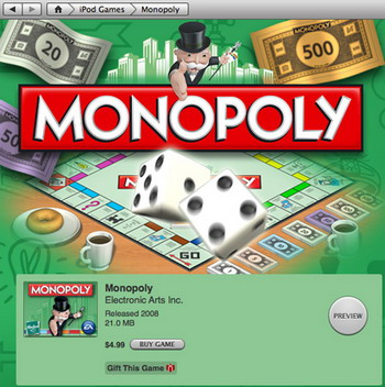 iPod monopoly game