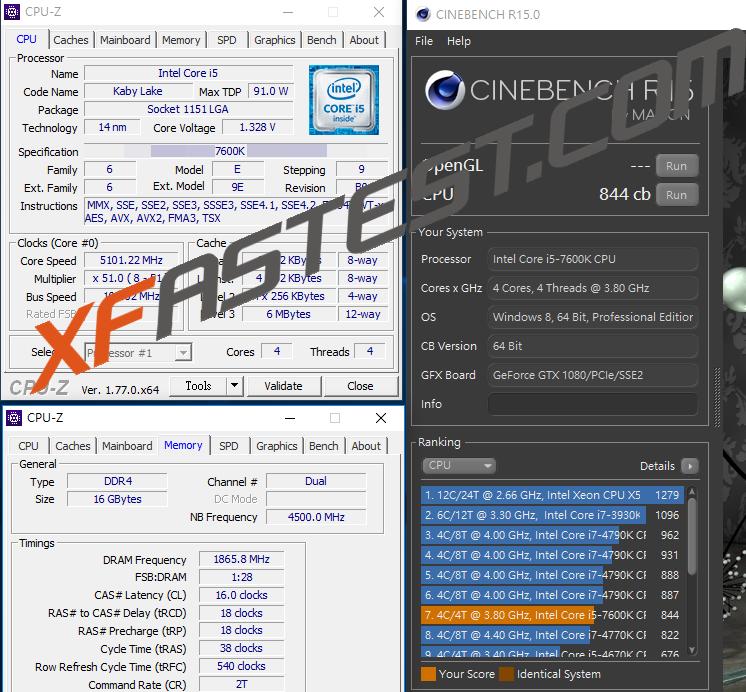 processor intel core i5-7600k kaby lake again overclocked to