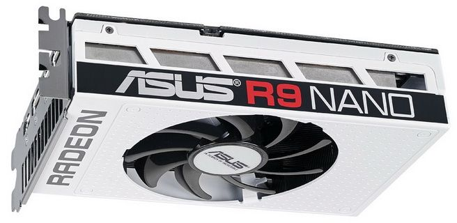 new pictures of the white version radeon r9 nano by asus