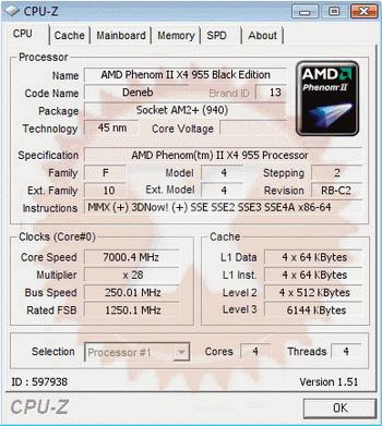 Phenom Ii X4 955 At 7 Ghz