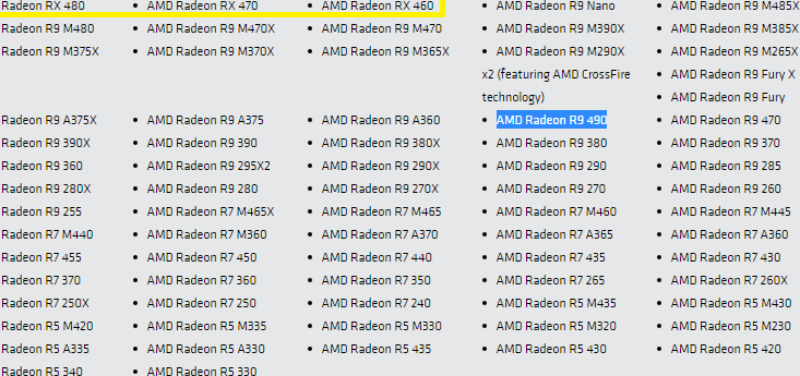 radeon r9 490 mentions on amd website,amd believes in the