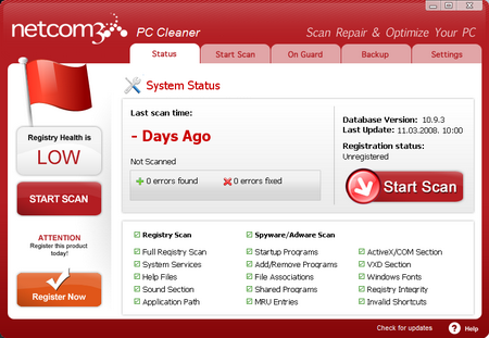 NTcom3 PC Cleaner 10.9.4