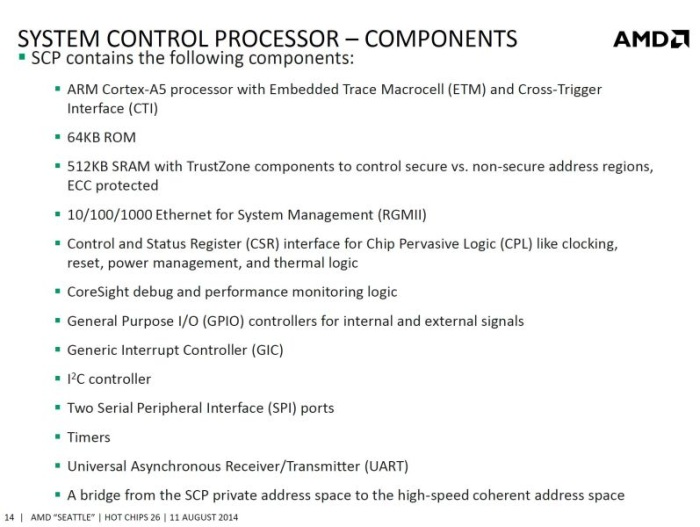 amd told more about processor opteron a1100 based on arm