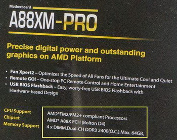 Asus showed a motherboard with socket FM2 plus