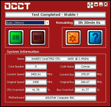 OCCT Perestroika full screenshot
