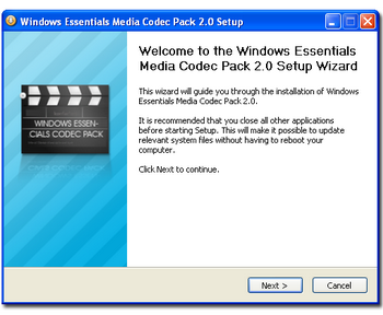 Windows Essentials Codec Pack 2.2c